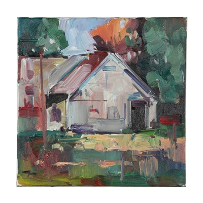 "Jose Trujillo Oil Painting ""The House"""