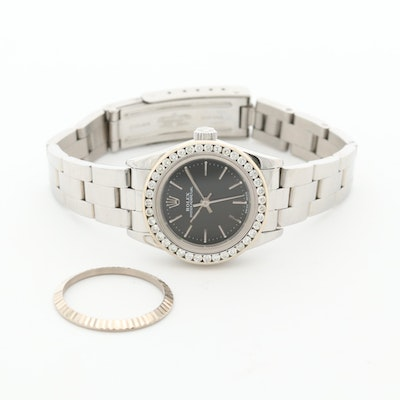 Rolex Oyster Perpetual Stainless Steel Wristwatch With Diamond Bezel, 2000