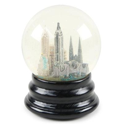 "Saks Fifth Avenue, ""New York"" Snow Globe with Music Box"