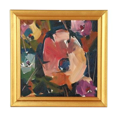 """Jose Trujillo Oil Painting """"Garden Flowers"""""""