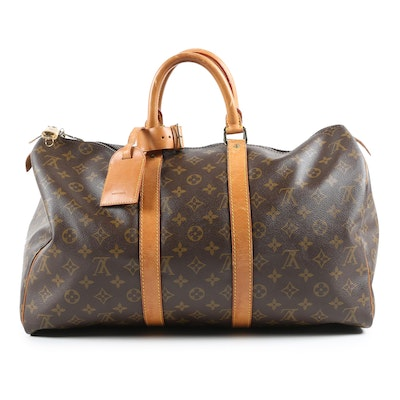 Louis Vuitton Paris Keepall 45 in Monogram Canvas and with Padlock and Key