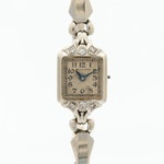 Hamilton 14K White Gold and Diamonds Wristwatch