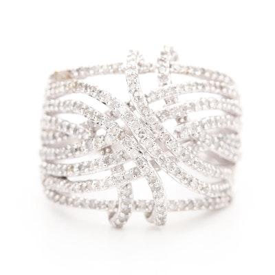 10K White Gold 1.18 CTW Diamond Openwork Ring