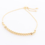14K Yellow Gold Adjustable Espiga Chain Bracelet