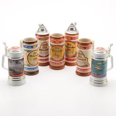 The House of Wiebracht Old Milwaukee Ceramic Beer Steins, 1990s–2000s