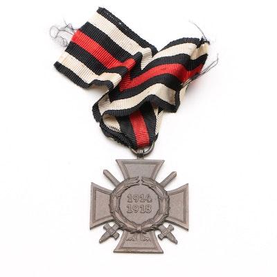 German Honour Cross of the World War 1914/1918 Combat Veteran Medal