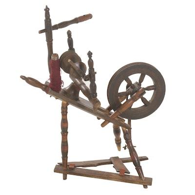 Wood Spinning Wheel, 19th Century