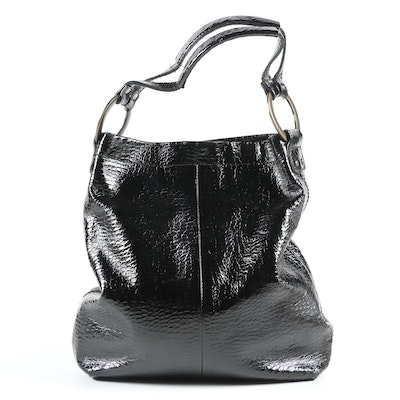 Jessica Simpson Snake Effect Patent Leather Hobo Bag