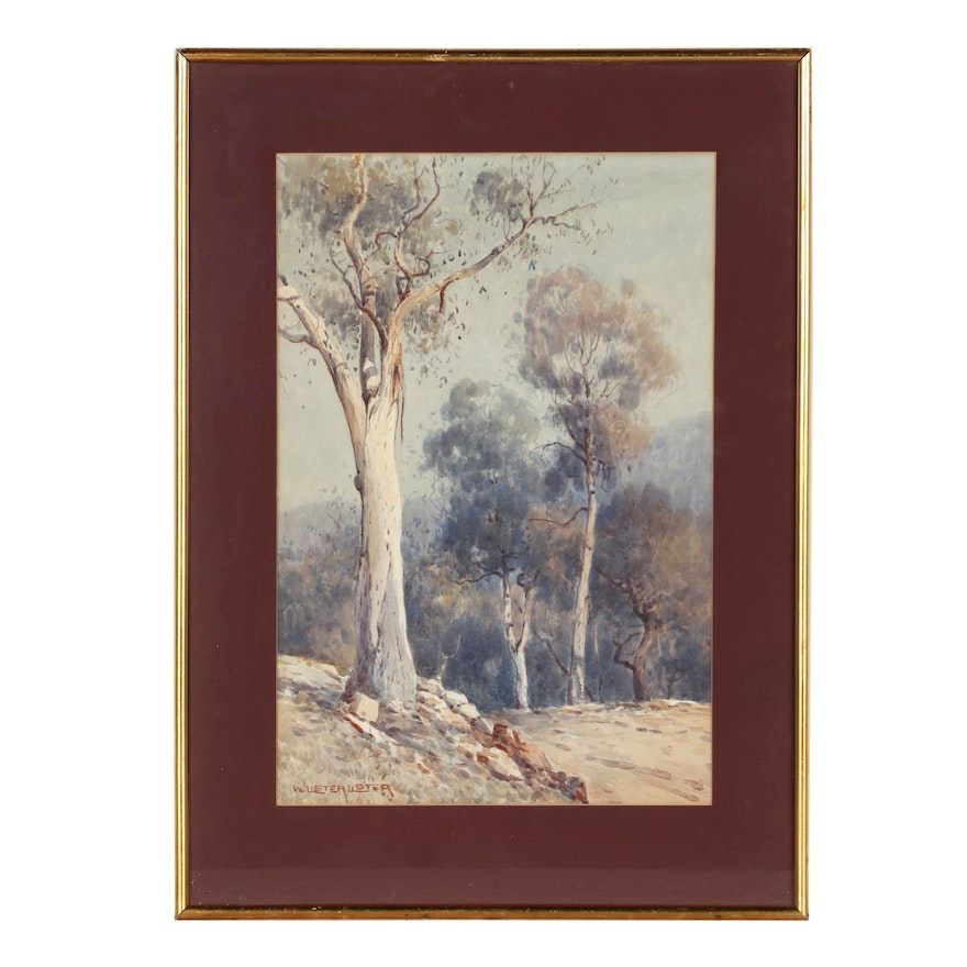 William Lister Lister Landscape Watercolor Painting