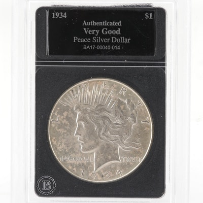 1934-D Silver Peace Dollar