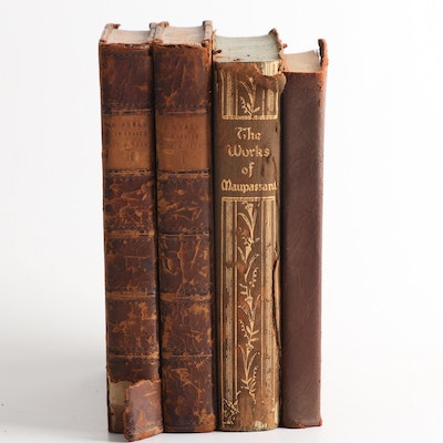 Antique Books Featuring Guy de Maupassant and More