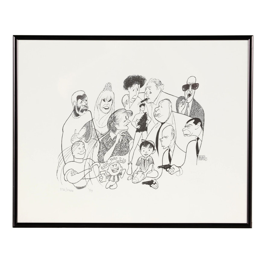 """Albert """"Al"""" Hirschfeld Caricature Lithograph """"TV Land 5"""""""