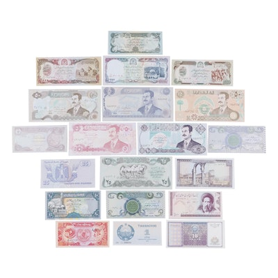 Twenty-Six Middle Eastern Banknotes