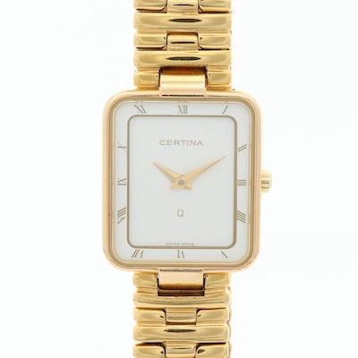 Certine Swiss Gold Tone Quartz Wristwatch