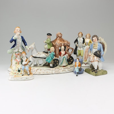 Made in Occupied Japan Porcelain Figurines, Circa 1940s