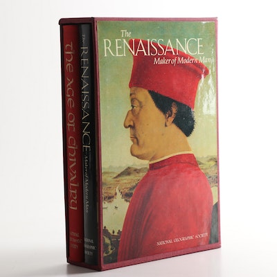 "National Geographic ""Age of Chivalry"" and ""The Renaissance"" Book Set in Slipcase"