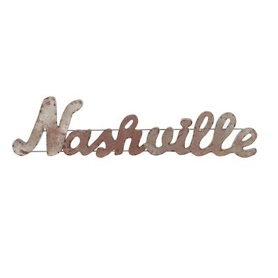 Nashville Metal Sign