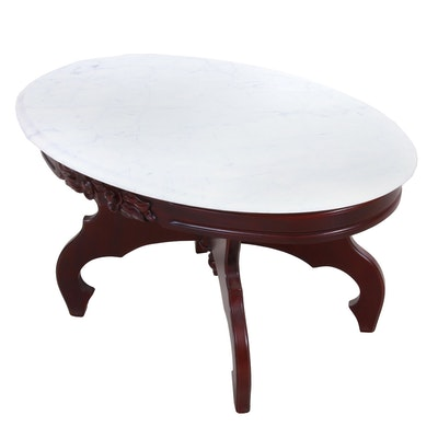 Victorian Style Mahogany Coffee Table, Mid-20th Century