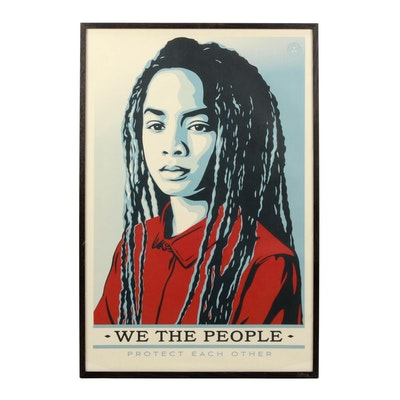 "Shepard Fairey Offset Print ""We the People Protect Each Other"""