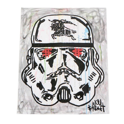 """Will $treet Acrylic Painting """"Burberry Stormtrooper"""""""