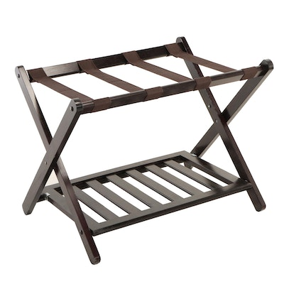 Contemporary Two-Tier Folding Luggage Rack