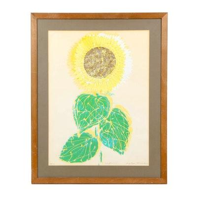 """Krystyna Marek Serigraph """"Sunflower"""""""