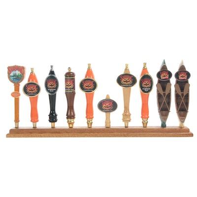 "Saranac ""Pumpkin Ale"" Beer Tap Handles with Display Stand"
