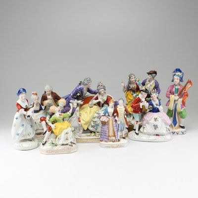 Porcelain Figurines Made in Occupied Japan