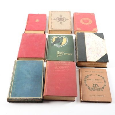Antique Novels & Poetry with Limited Edition E.B. Browning's Complete Works