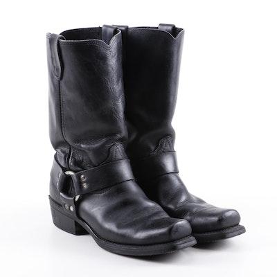 Durango Black Leather Harness Boots