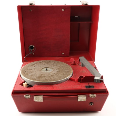 Vintage Portable National Library Service Record Player