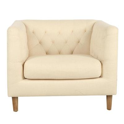 Cream Tuffed Armchair