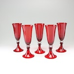 Torre & Tagus Red Glass Goblets