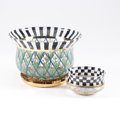 MacKenzie-Childs Beaded and Painted Glass Bowls