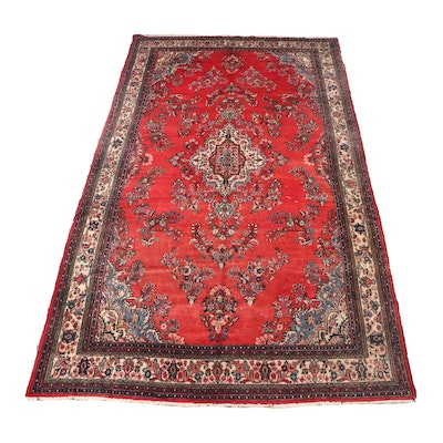 Hand-Knotted Persian Hamadan Wool Gallery Rug