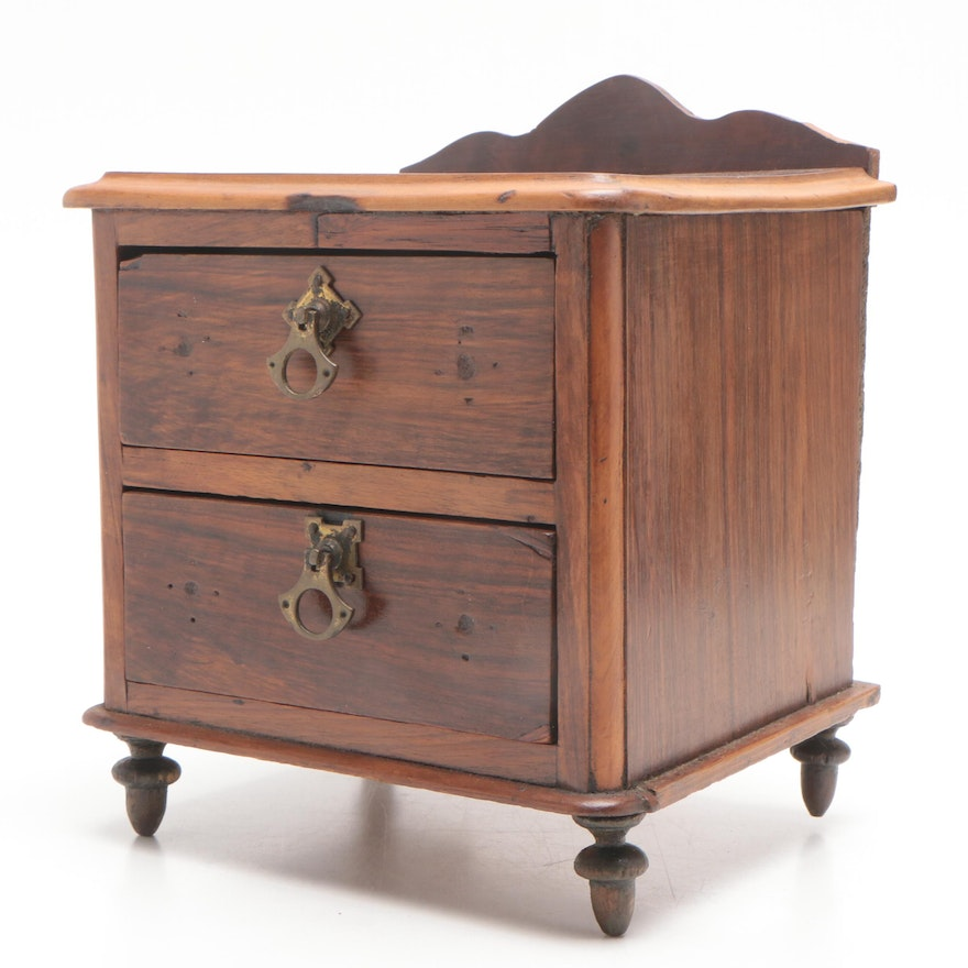 Salesman's Sample Walnut Finish Chest of Drawers, Early to Mid 20th Century