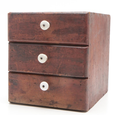Cherry Finish Diminutive Chest of Drawers, 19th Century