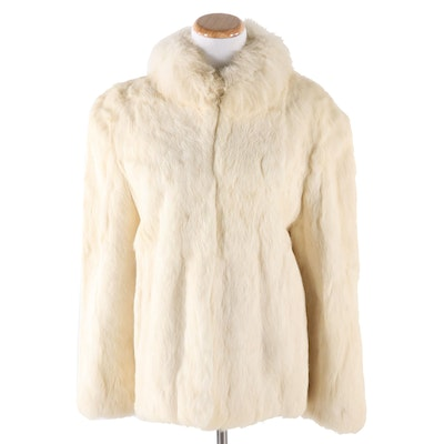 White Rabbit Fur Jacket, Vintage