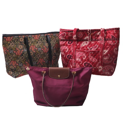 "Longchamp Paris, Vera Bradley ""Mesa Red"" & The Metropolitan Museum of Art Totes"
