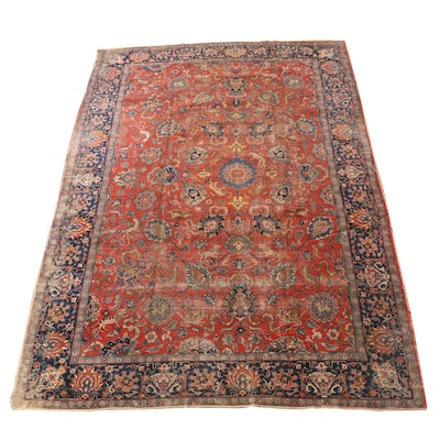 Hand-Knotted Persian Tabriz Pictorial Wool Room Sized Rug