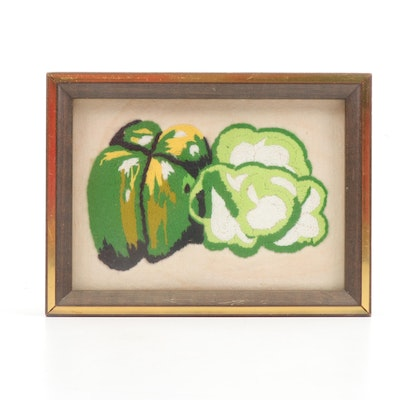 Crewel Embroidery of Green Bell Pepper