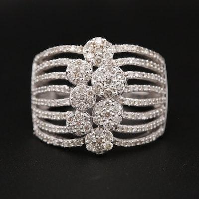 10K White Gold 1.20 CTW Diamond Openwork Ring
