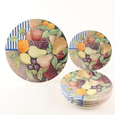 """Gien France """"La Ronde Des Fruits"""" Dessert Set"""