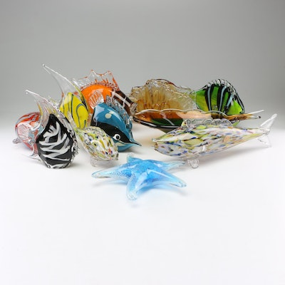 Art Glass Tropical Fish Figurines, Vases and More