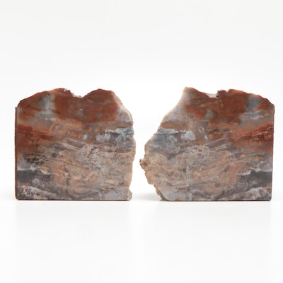 Polished Flint Nodule Bookends