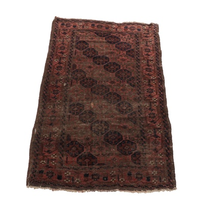 3'2 x 5'6 Hand-Knotted Persian Baluch Rug, circa 1900