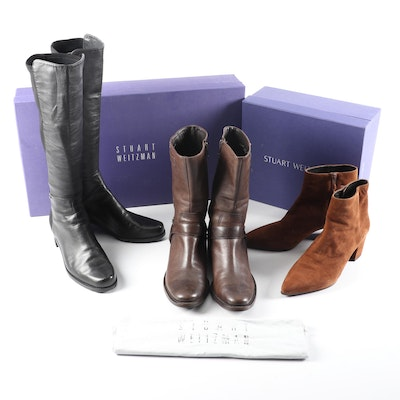 Stuart Weitzman and Cole Haan Heeled Boots in Suede and Leather