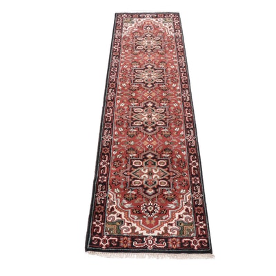 2'6 x 9'7 Hand-Knotted Indo-Persian Heriz Runner