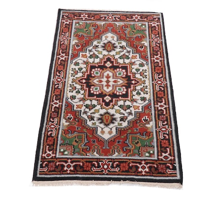 3'0 x 5'1 Hand-Knotted Indo-Persian Heriz Rug