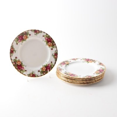 "Royal Albert China ""Old Country Roses"" Salad Plates"